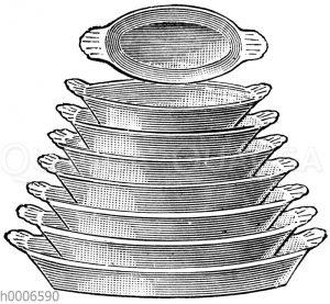 Französische Eierplatten (feuerfest)