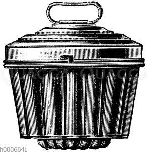 Gerippte Puddingform mit Zapfen