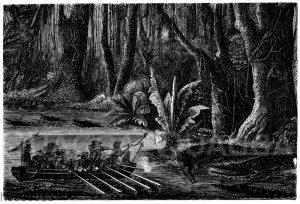 Jagd auf den Alligator oder Kaiman