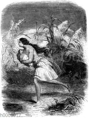 Flucht vor einem Kaiman