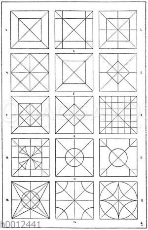 Quadrate: Felderteilungen