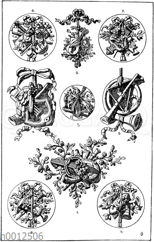 Emblem des Gesanges und Musik