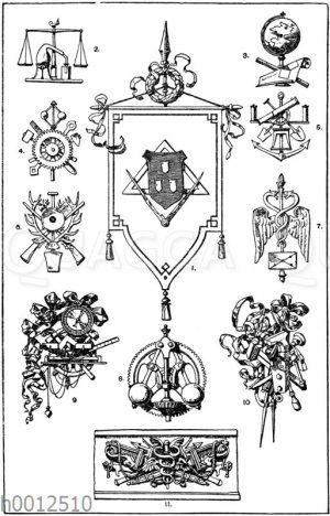 Embleme der Wissenschaft und Technik