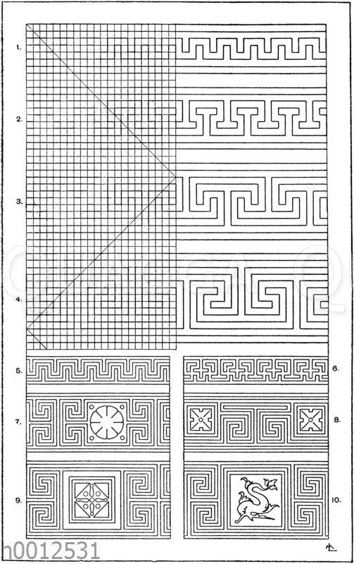 Symmetrische Mäander: 1.-4. Gewöhnliche
