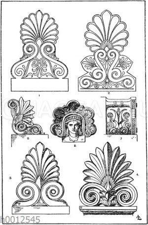 Stirnziegel: 1. Griechischer Stirnziegel