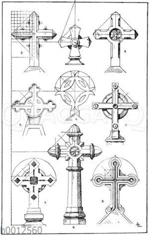 Kreuze in Stein: 1. Französisch. Kartause zu Glandier