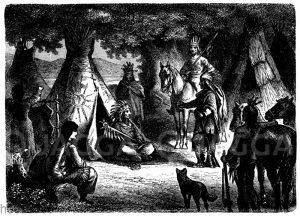 Wigwam der Indianer