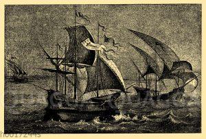 Karavellen des Christoph Columbus