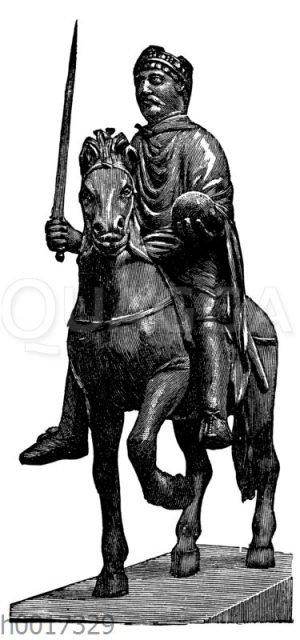 Karl der Große. Bronzestatuette