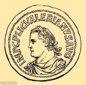 Kaiser Valerian: Römische Kupfermünze