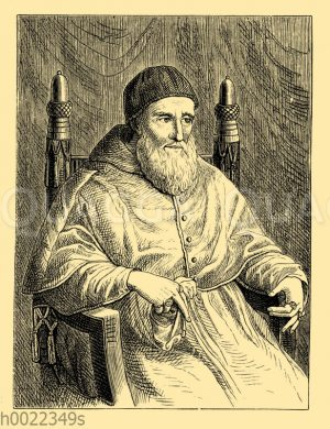 Papst Julius II. Nach dem Gemälde von Raffael