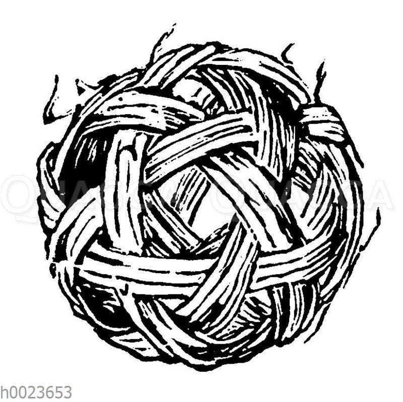Fussball aus Rotang