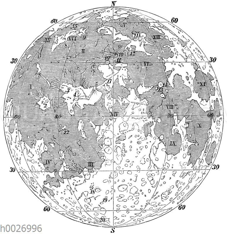 Karte des Mondes