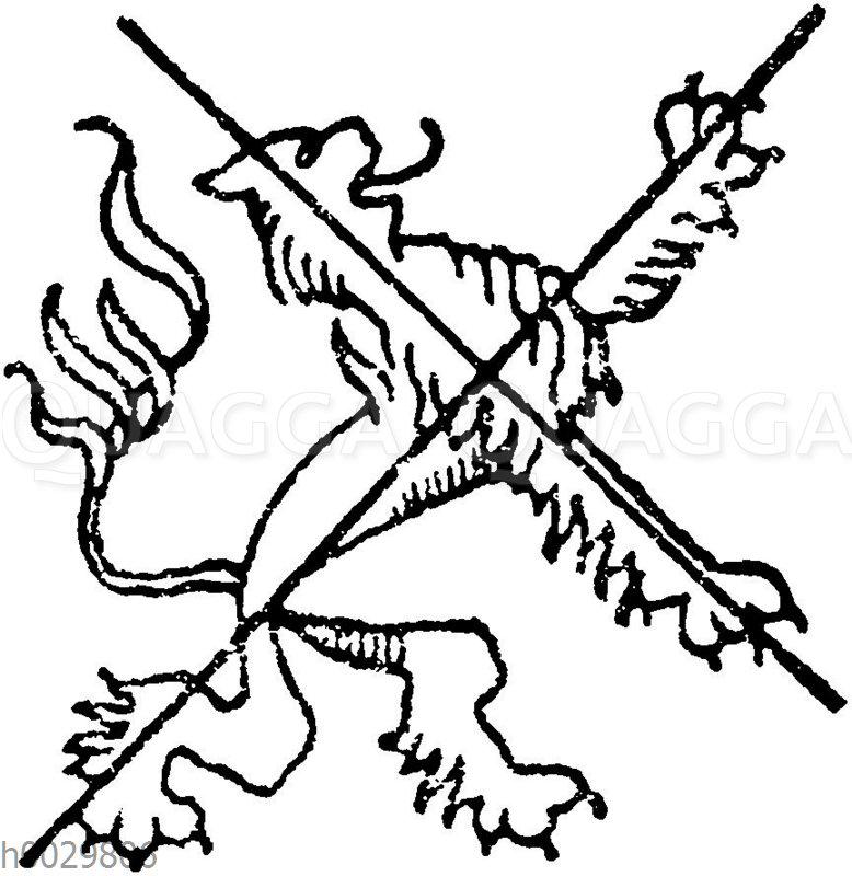 Schema für heraldische Löwen nach Albrecht Dürer.