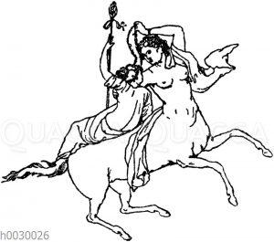 Kentaur und Bacchant. Wandmalereien aus Pompeji. (Chefs-d'oeuvres de l'art antique)
