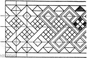 Flechtbandmotiv von Holz- und Elfenbeineinlagen. Italienische Renaissance.