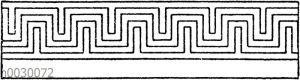 Symmetrische Mäander: Parallelstreifiger Doppelmäander. Griechisch.