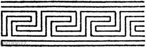 Unsymmetrische oder laufende Mäander nach griechischen Vasenmalereien: Gewöhnliche