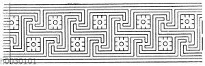 Mäander: Gewöhnliche Schemata von griechischen Vasenmalereien.