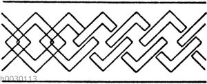 Kettenbänder: Bekannte Schemata Dekorationsmalerei