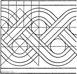 Flächtbänder: Gestreckte antike Flechtbänder