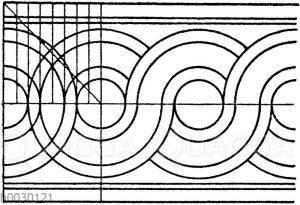 Flächtbänder: Gewöhnliche antike Flechtbänder
