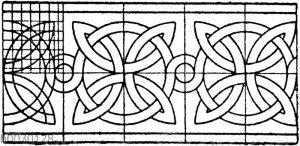 Romanischer Flechtband. Motive einer Archivoltverzierung zu Segovia.
