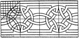 Romanisches Flechtband. Motiv einer Archivoltverzierung zu Segovia.