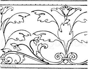 Laufende Endigungen: Intarsia-Fries. Ital. Renaissance. (Meurer)