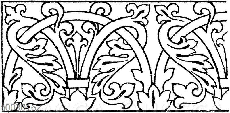 Laufende Endigungen: Mosaikornament aus San Marco in Venedig. Byzantinisch (Musterornamente)