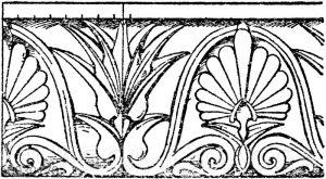 Simaornament: Rinnleiste für Zinkguss von Gropius in Berlin. (Arch. Skizzenbuch)