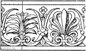 Simaornament: Graeko-italisches Terrakotta-Ornament. (Lievre)