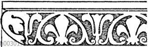 Simaornament: Simaornament vom Louvre in Paris. Französische Renaissance.