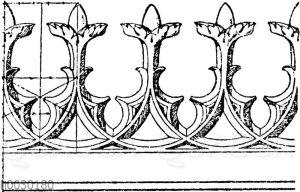 Firstkrönung: Gotisches Krönungsornament für Eisenguss