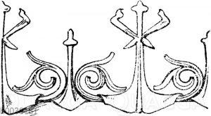 Firstkrönung: Französische Firstkrönung vom Schloss Pierrefonds. Restauriert von Viollet-le-Duc. (Raguenet)