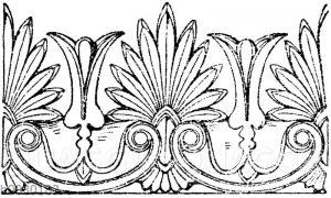 Firstkrönung: Zinkgusskrönung von Gropius in Berlin. (Arch. Skkizzenbuch)