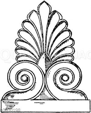 Stirnziegel: Griechischer Stirnziegel vom Parthenon in Athen. Marmor.