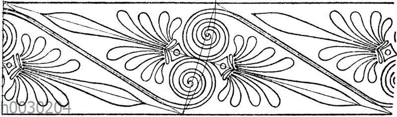 Palmettenband: Bemalung griechischer Tongefäße.