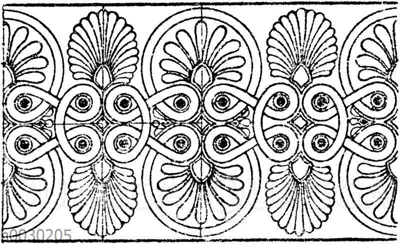 Palmettenband: Griechischer Architekturfries.