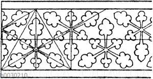 Blattbänder und Rankenbänder: Originelles mittelalterliches Blattband.