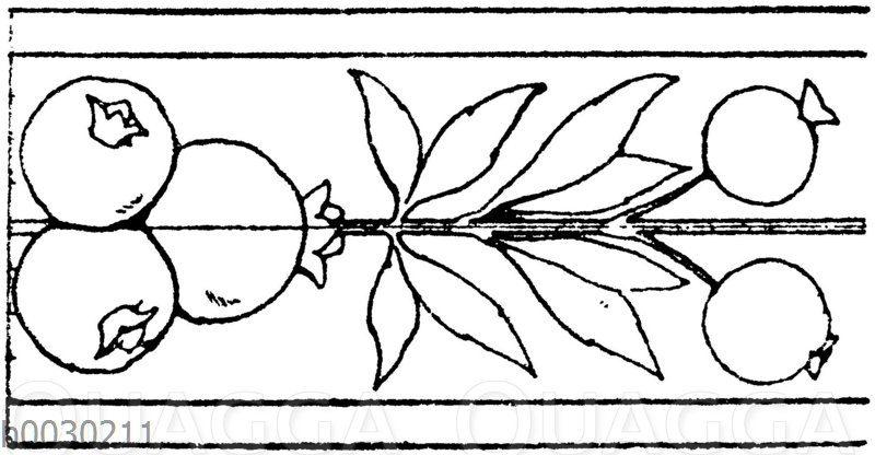 Blattbänder und Rankenbänder: Intarsiastreifen aus St. Maria in Organe in Verona. 1499.