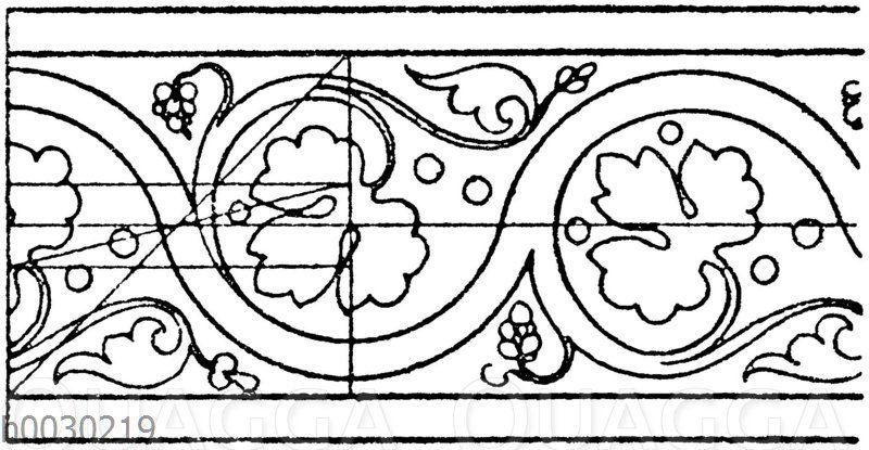 Blattbänder und Rankenbänder: Französische Wandmalereien. 13. Jahrhundert (Racinet)