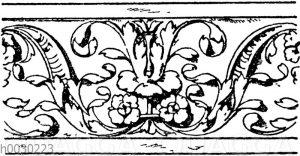 Blattbänder und Rankenbänder: Friesverzierung. Französische Renaissance.