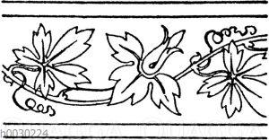 Blattbänder und Rankenbänder: Lederpressung aus dem 16. Jahrhundert. Rathausbibliothek zu Schwäbisch-Hall. (Musterornamente)