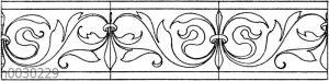 Blattbänder und Rankenbänder: Renaissance Schriftverzierung.