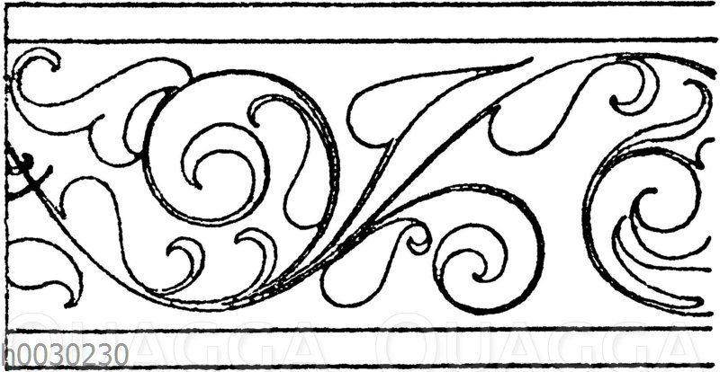 Blattbänder und Rankenbänder: Bordüre. Deutsche Renaissance. (Hirth