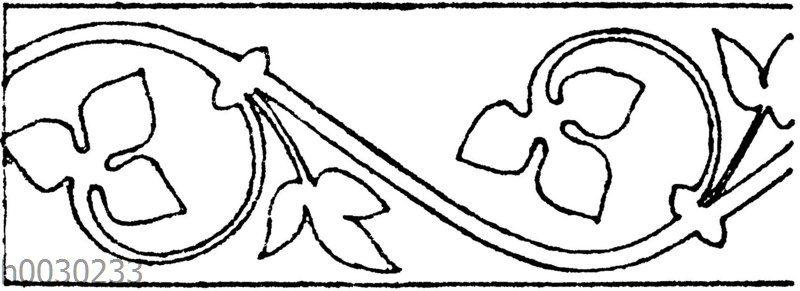 Blattbänder und Rankenbänder: Französische Wandmalerei. 13. Jahrhundert (Racinet)