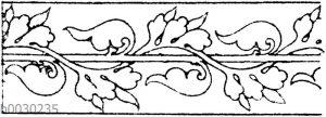 Blattbänder und Rankenbänder: Gotische Schriftverzierung.