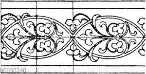 Blattbänder und Rankenbänder: Byzantinisches Glasmosaik aus San Marco in Venedig. (Musterornamente)