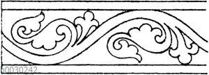 Blattbänder und Rankenbänder: Romanische Umrahmung vom Portal des Doms zu Lucca. (Musterornamente)